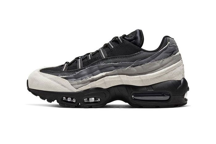 Comme Des Garcons Nike Air Max 95 Grey White Black Lateral Side Shot