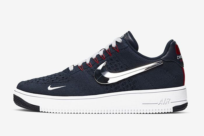Nike Air Force 1 Flyknit New England Patriots Left