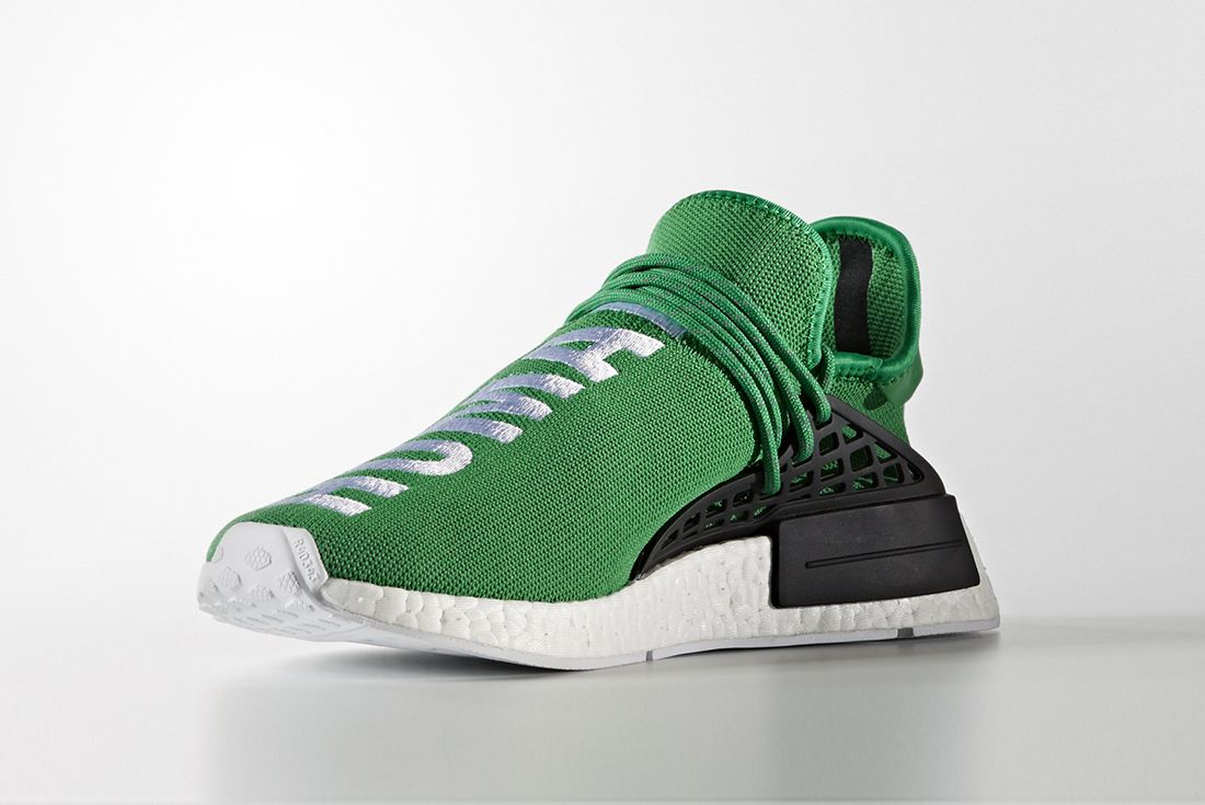 Pharrell Williams X Adidas Hu Nmd Green5