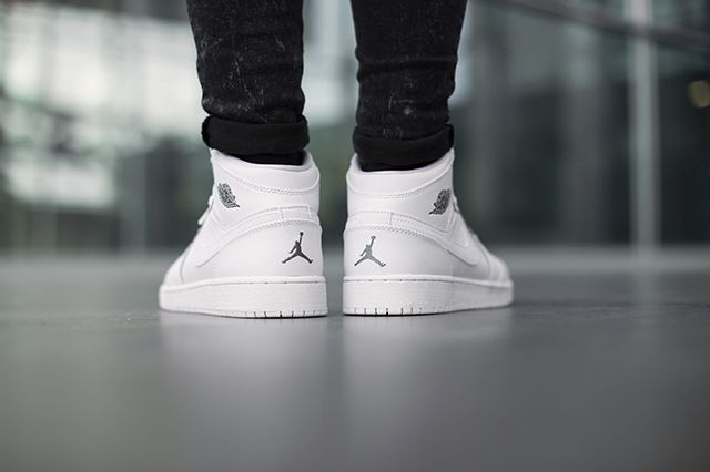 Air Jordan 1 Bg White Cool Grey 5