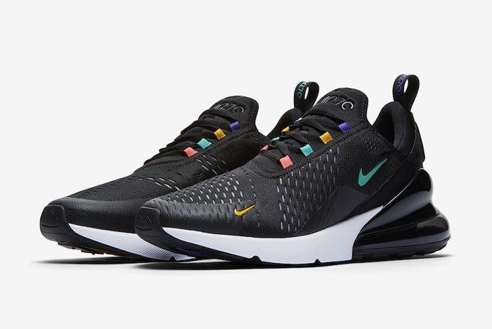 Nike Air Max 270 Black Multicolour Pair