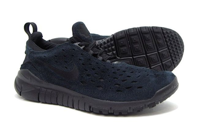 Nike Free Trail Black Suede Profile 1