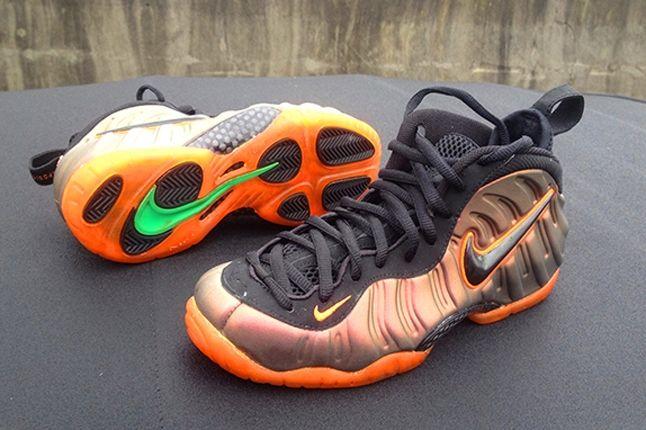 Nike Foamposite Sole Swap Custom Sunset Outsole 1