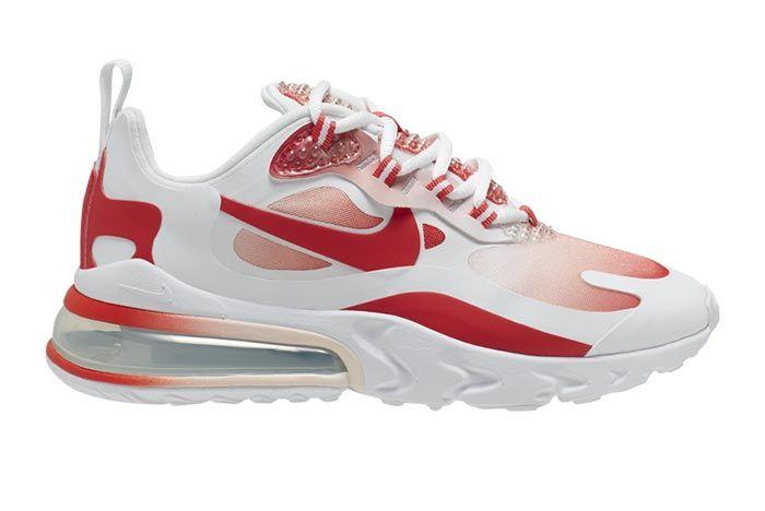 Nike Air Max 270 React Bubble Wrap Red Gradient Av3387 100 Medial
