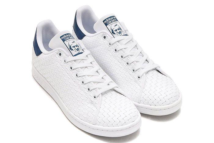Adidas Stan Smith Woven White Blue 1