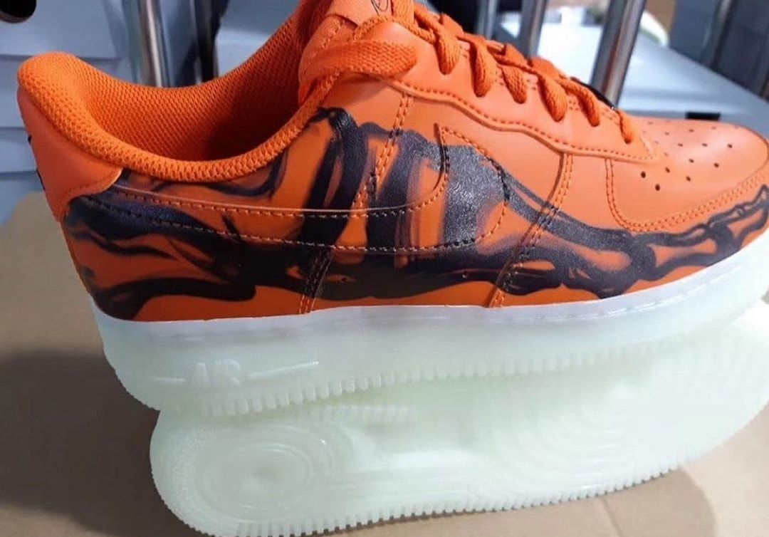 Nike Air Force 1 Skeleton (Brilliant Orange)