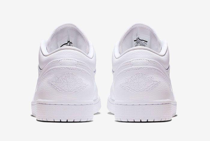 Air Jordan 1 Low Triple White 553558 112 Rear