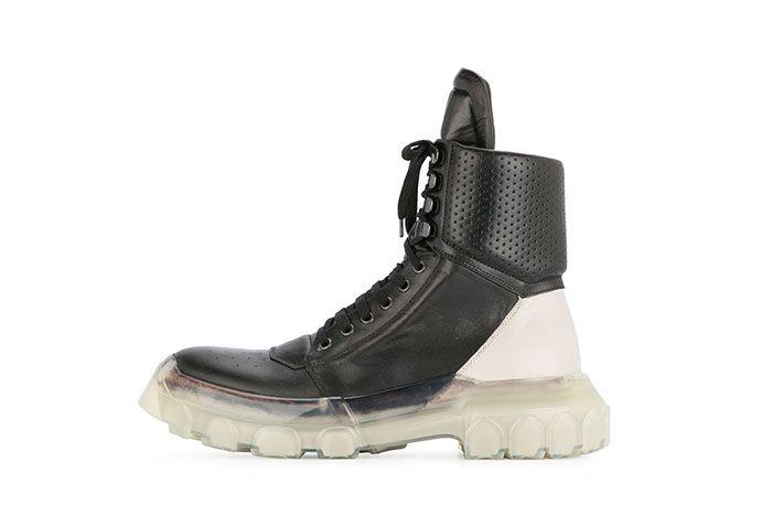 Rick Owens Tractor Dunk Boots Black White Release 1 Sneaker Freaker