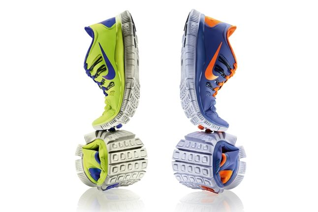 Nike Free 5 0 Volt Blue Twisted Full Circle Profile 1