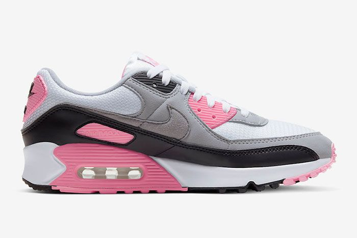 Nike Air Max 90 Rose Pink Cd0881 101 Lateral Side Shot