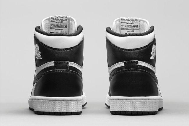 Air Jordan 1 Black White Bump 2
