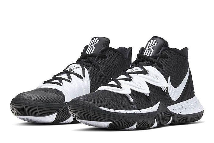 Nike Kyrie 5 Team Bank Black White Toe 2