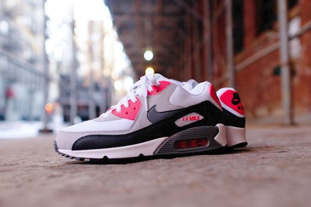 Nike Air Max 90 Essential Cl Grey Infrared 4