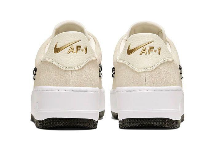 Nike Air Force 1 Sage Low Lx Light Cream Release Ci3482 200 Heel Shot