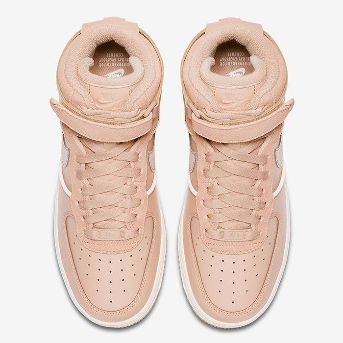 light pink air force 1 high top