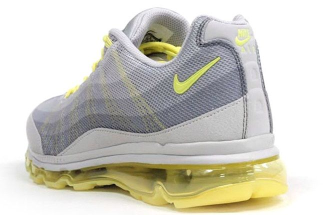 Nike Wmns Air Max 95 Dynamic Flywire Yellow Grey Reverse Angle 1