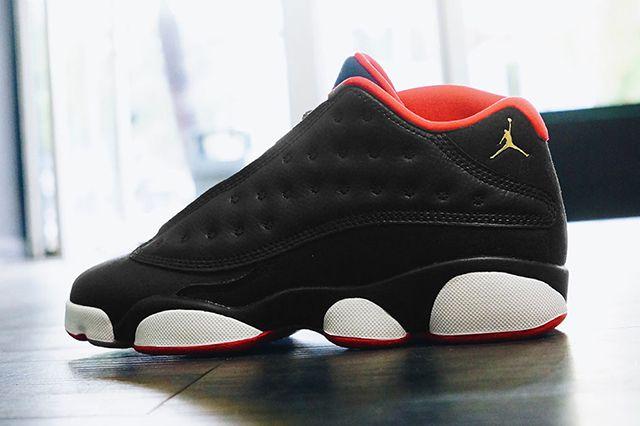 Air Jordan 13 Low Black Red Gold Gs