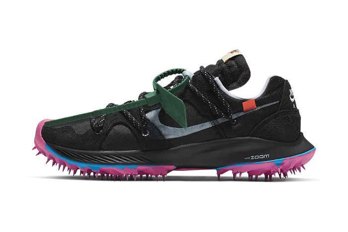 Off White Nike Zoom Terra Kiger 5 Black Cd8179 001 Release Date Lateral