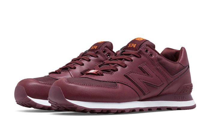 New Balance 574 Flight Jacket Burgundy 3