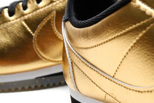 Nike Classic Cortez Leather Metallic Gold 5