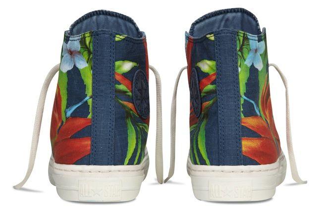 Converse Allstar Chukc Specialty Hawaiian Print Blue Front Heel Profile 1