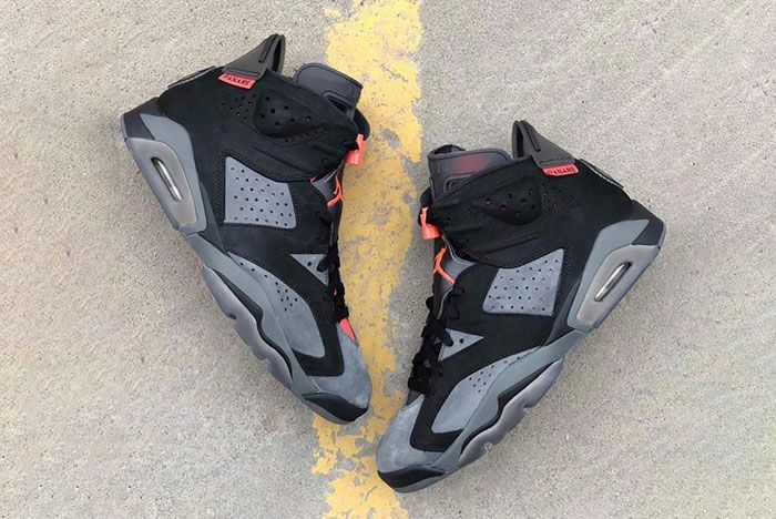 Air Jordan 6 Psg Paris Release Date 2 Pair Angle