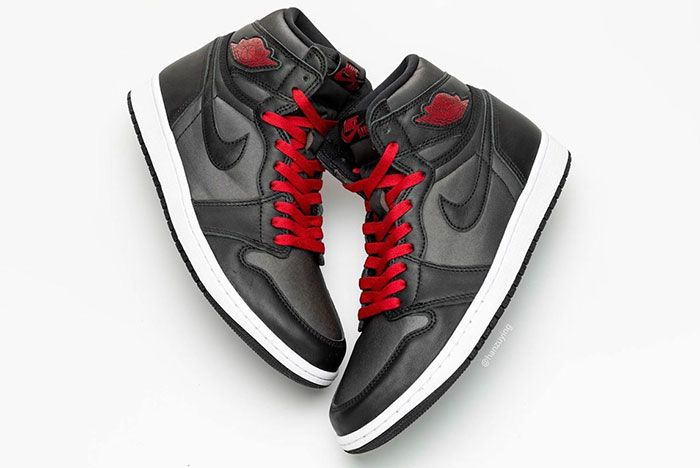 Air Jordan 1 Satin Black Gym Red 555088 060 Release Date