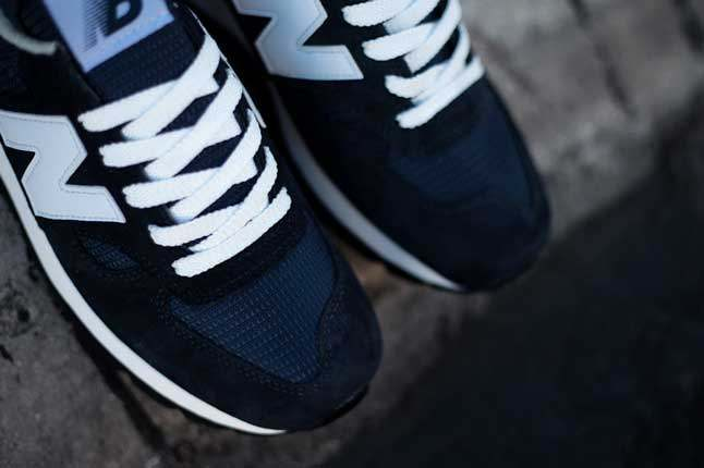 New Balance 990 Navy Front Lace 1