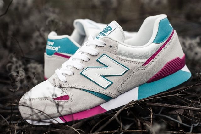 New Balance 446 White Teal Berry 1