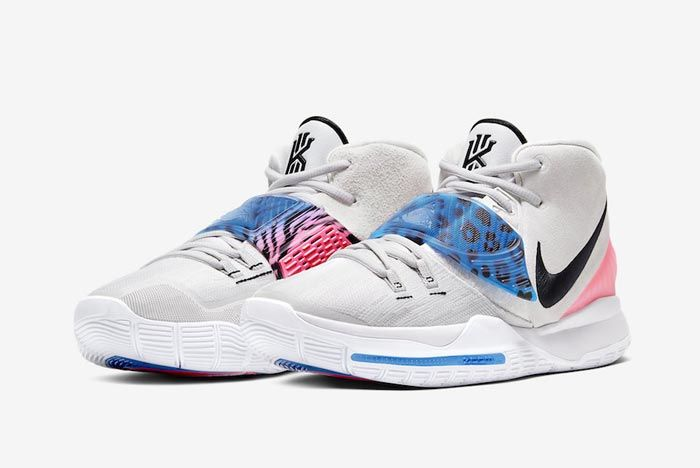 Nike Kyrie 6 Vast Grey Animal Print Pair