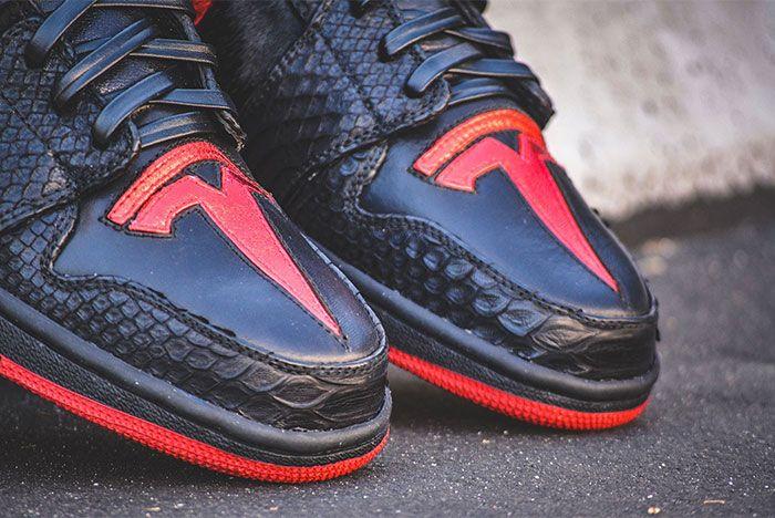 Elon Musk Air Jordan 1 Dm Custom Sneakers Toe Box Shot 4
