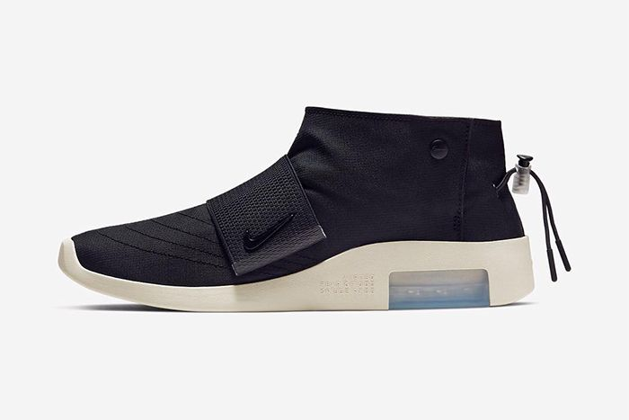 Nike Air Fear Of God Moccasin Black Official Releae Date Side Profile