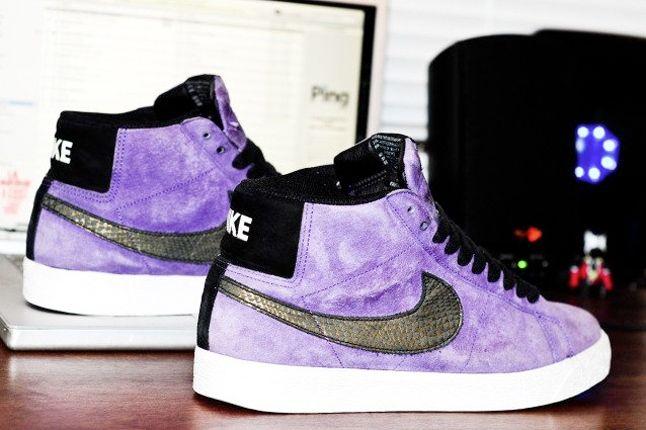 Nike Sb Blazer Purple Snakeskin 1