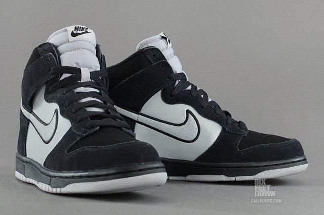 Nike Dunk High Black Reflective Silver Angle