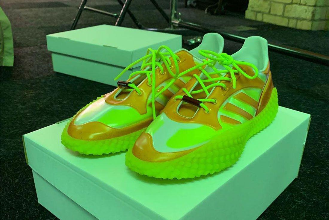 Craig Green Adidas Kamanda Orange Three Quarter Lateral Side Shot