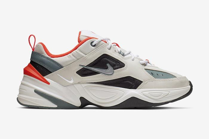 Nike M2 K Tekno Light Bone Turf Orange Medial
