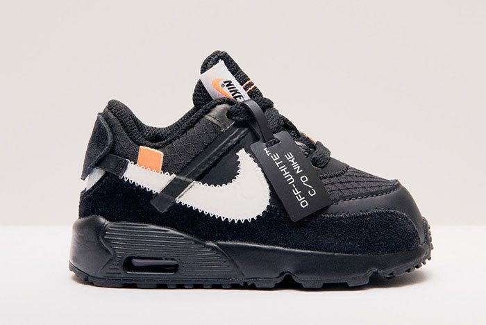 Nike Air Max 90 Off White Black Little Kids Toddlers 2