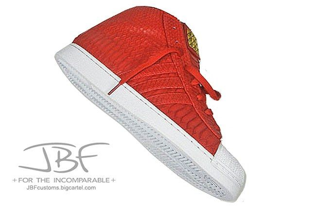 Jbf Customs Red Python Adidas Promodel 3 1