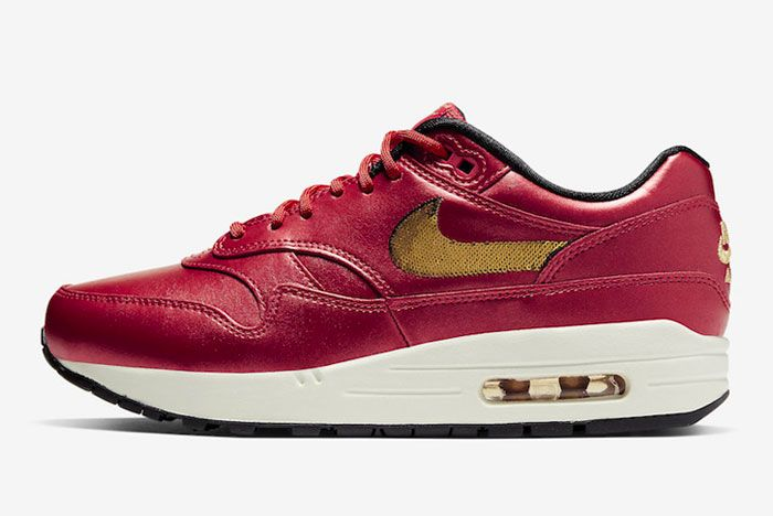 Nike Air Max 1 Gold Sequins Left