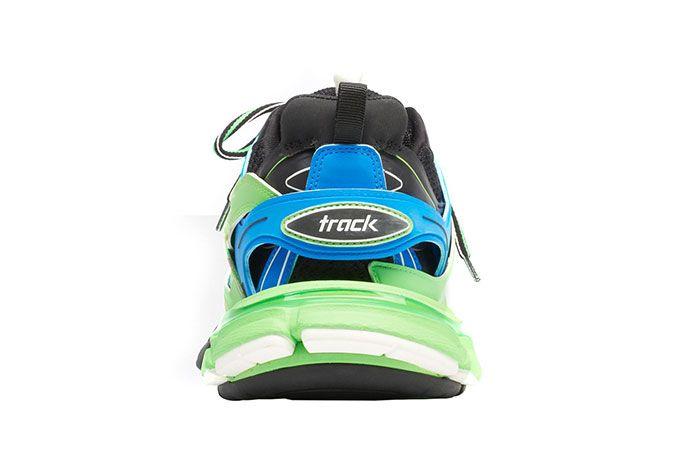 Balenciaga Track Green Blue Heel