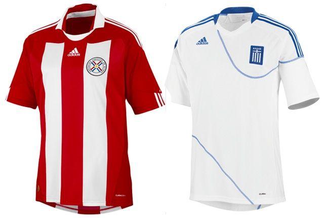 Adidas Paraguay Greece World Cup Kit 1 1