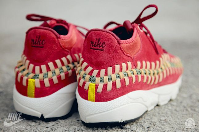 Nike Footscape Woven Chukka Knit Red Reef Heel Details 1