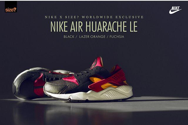 Size Nike Air Huarache Le Exclusive Lazer Orange Fuchia 1