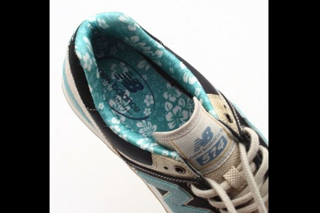 New Balance 574 Floral Hemp Pack Baby Blue And Navy Insole 1
