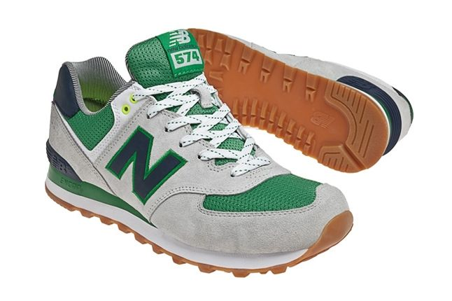 New Balance 574 The Yacht Club Collection Green Angle 1