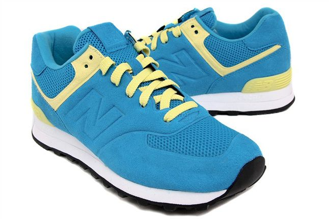 New Balance 574 Blue Yellow 01 1