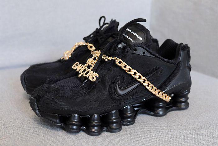 Cdg Nike Shox Black Release Date Left