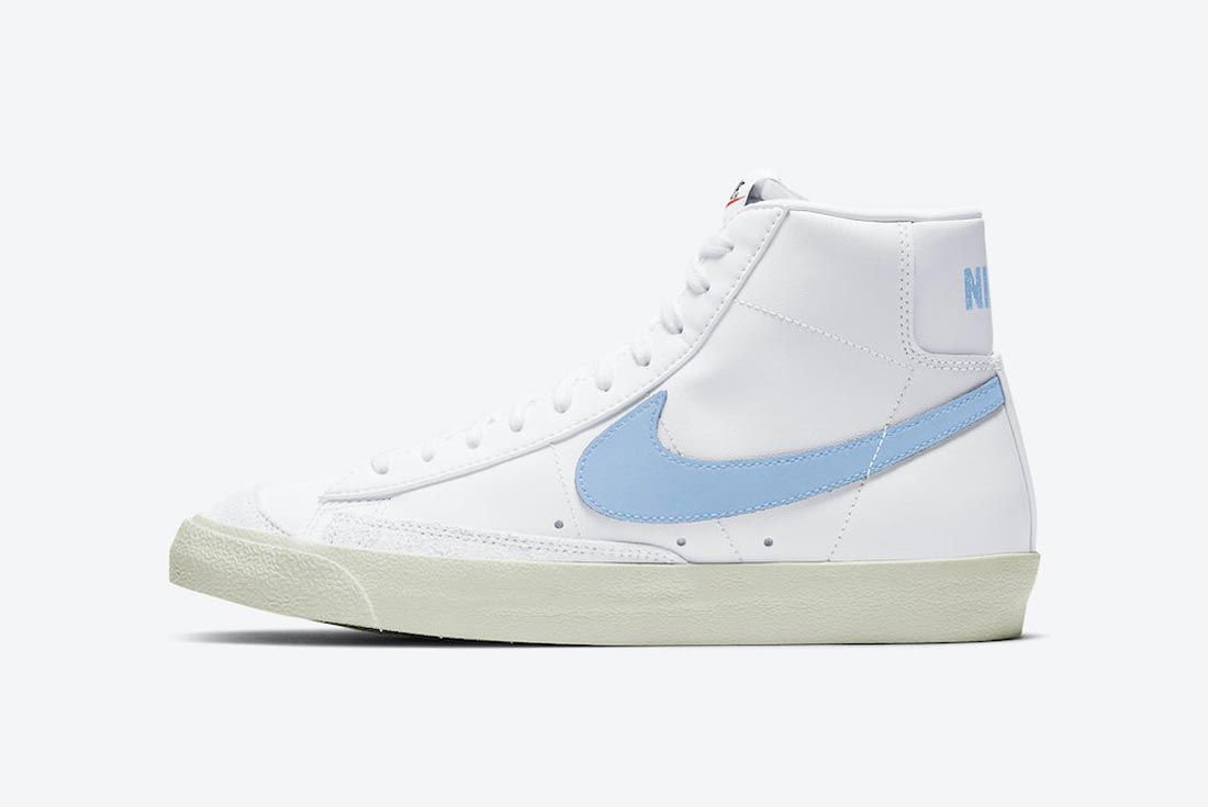 The Nike Blazer Mid Mixes in Baby Blue