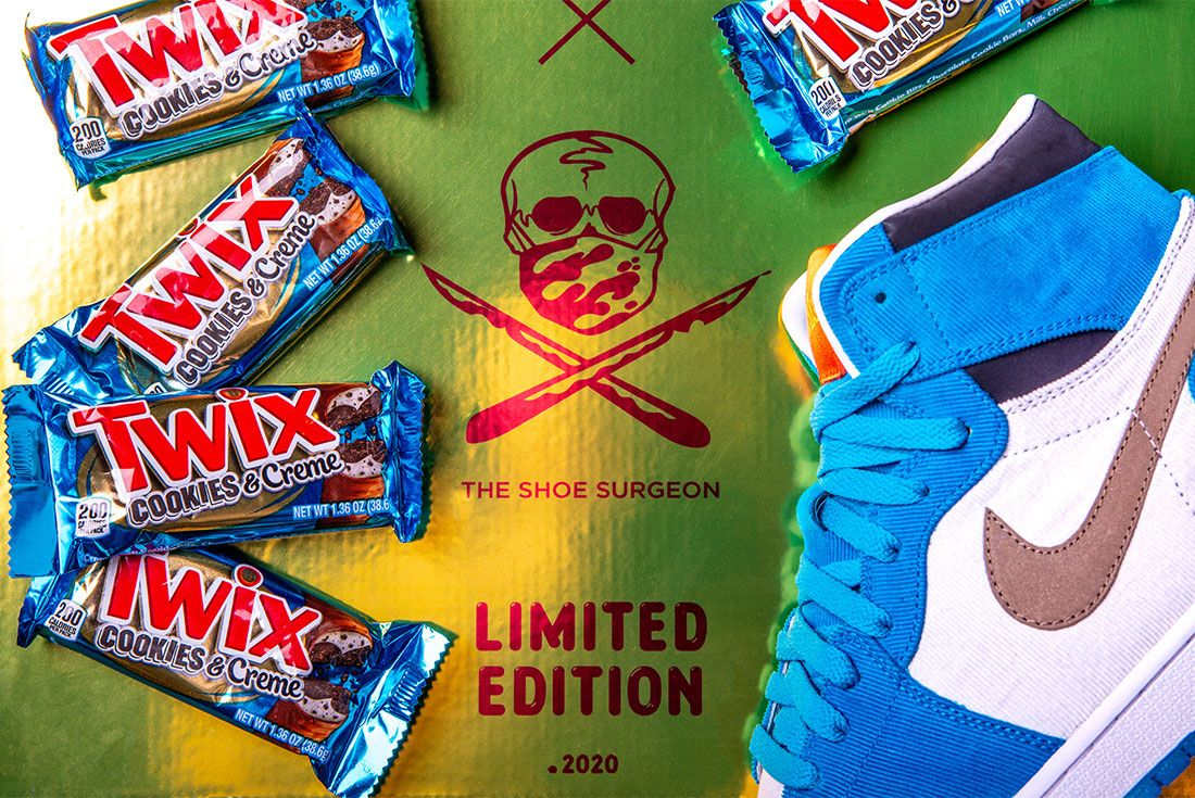 The Shoe Surgeon Twix Cookies And Creme Box