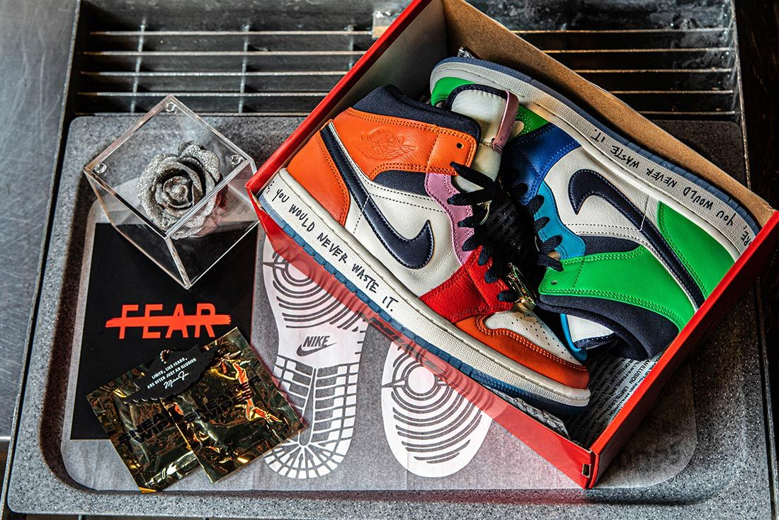 Melody Ehsani Air Jordan 1 Mid Fearless Packaging